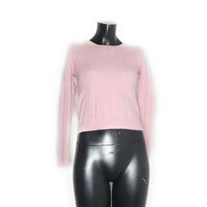 J.Crew Medium Pink Cable Knit Wool Blend Sweater